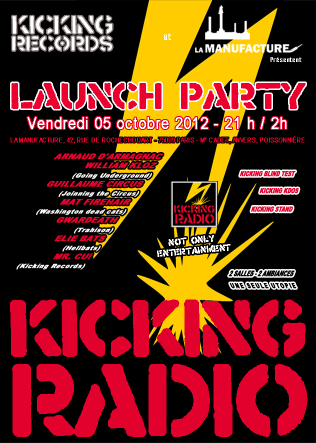 KICKING RADIO launch party!